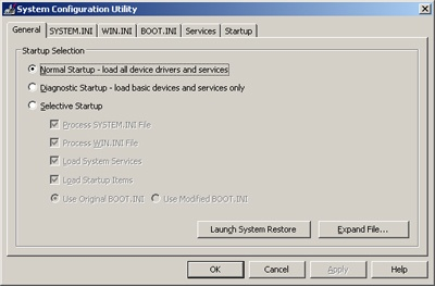 Remove Items from Windows XP Startup