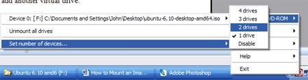Using Daemon Tools to Mount a Virtual Drive