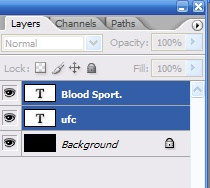 UFC Blood Sport Logo Photoshop Tutorial