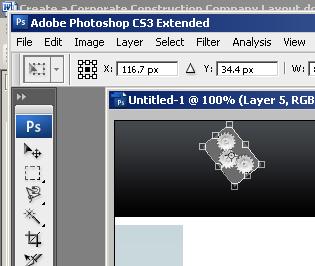 Photoshop Corporate Construction Company Layout