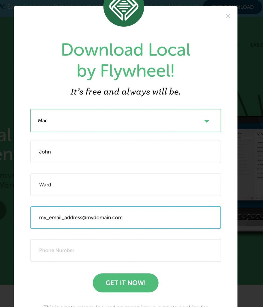 download local by flywheel